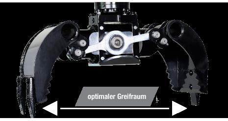 Sortiergreifer SG6040 MS03-08 für 5-10t Bagger » Baumaschinen Boneß GmbH