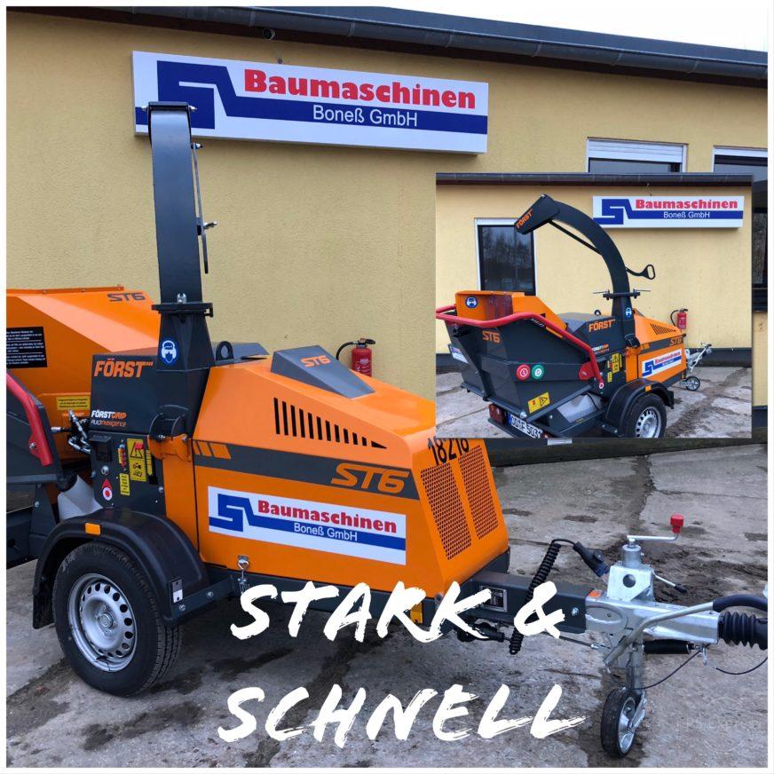 Schredder / Buschhacker Först ST6 » Baumaschinen Boneß GmbH